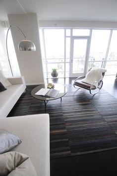 Sexy, Sophisticated Leather Floors #theperfectblack> #elizabethbolognino> #interiordesign