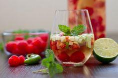 Raspberry and Serrano Sangria