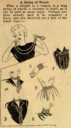 How to wear a long strand of pearls