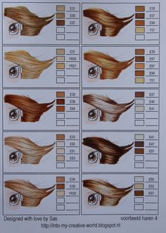 Copic Hair Color Chart