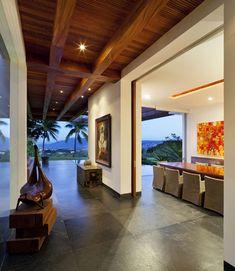love this... home interiors, dream homes, indoor outdoor, pocket doors, hous, wood ceilings, outdoor spaces, home interior design, sliding doors