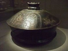 Basal flanged lidded vessel Central Maya area Early Classic Maya 4th-6th century CE earthenware by mharrsch, via Flickr