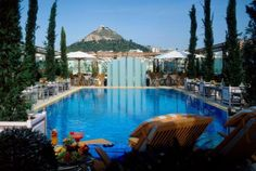 Hotel Grande Bretagne, Athens    Pool Bar - Lycabettus Hill View-visited this beautiful hotel in the fall of 2010.  Handicap accessible rooms -all their rooms have been renovated...great spa...cigar lounge.