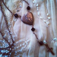 Mother Mary Rosary locket antiqued bronze with by gigideluxe, $45.00