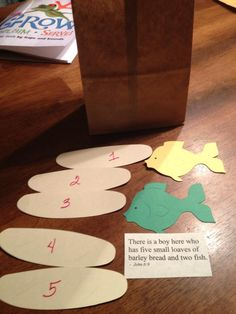 Sunday school craft for fishes/loaves