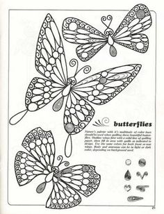 butterfly pattern for quilliing