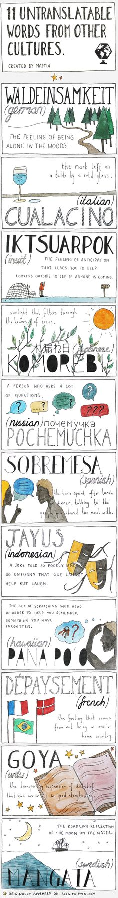 The World's Most Fascinating And Untranslatable Words