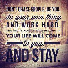 Believe this.