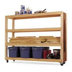 Mobile Storage Woodworking Plan