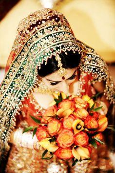 color palettes, colors, indian beauti, brides, indian bridal, bridal lehenga, beauti indian, flowers, indian bride