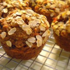 Vegan Whole Grain Carrot and Apple Muffins