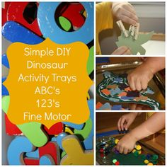 Dinosaur Activity Trays from Life with Moore Babies