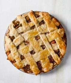 Rhubarb Cardamom Pie