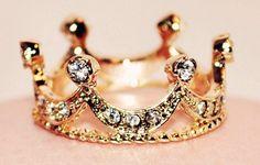 fashion, style, crowns, accessori, princess ring, princesses, crown ring, jewelri, thing