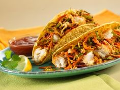 Old El Paso® products and easy fish fillets make quick work out of Mexican fare.  I could be persuaded with the simplicity...