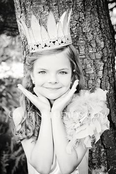 Metal antique white Princess Crown