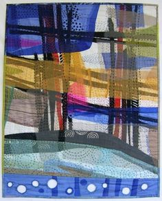 Shadow Traces 2002 by Odette Tolksdorf (South Africa) | art quilt