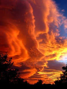 lenticular clouds at sunset    !!!spectacular gaudy display!!!