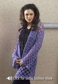 montreal jacket - free crochet pattern