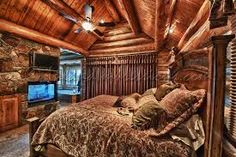 Log cabin life on pinterest log homes log cabins and for Extravagant log homes