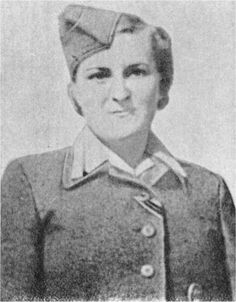"""Hermine Braunsteiner, at Majdanek, selected women and children for execution, and whipped/stamped women to death. Nazi-hunters tracked her to USA. At her 1975 trial in Germany, a witness told how she """"seized children by their hair and threw them on trucks heading to the gas chambers."""" She directly murdered 80 people, abetted the murder of 102 children, and collaborated in the murder of 1,000 people. She was released in 1996 for health reasons. She died in 1999."""