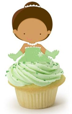 Your Cupcake is Her Dress  Tiana Princess and the Frog Cupcake Toppers Birthday Party Decorations Set of 12 Unique and very cute on Etsy, $12.00