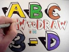How to Draw the A B C in 3D