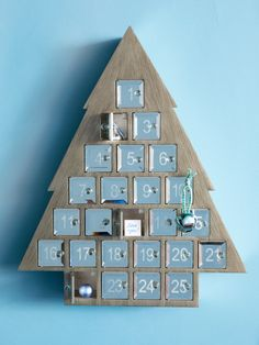 Create a sense of fun and tradition by hanging this advent calendar.