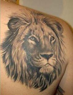 Tatuagem Masculina - Leão, costas