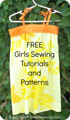 free sewing patterns and tutorials...this is going to get me into a lot of trouble!