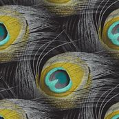 Peacock feather fabric