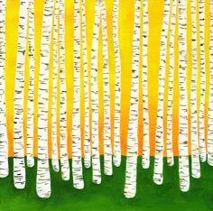 Birch by Lisa Congdon forests, birches, dawn, birch tree, birch forest, lisa congdon, inspir, artist, illustr