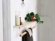 DIY Towel Rack & Shelf @themerrythought