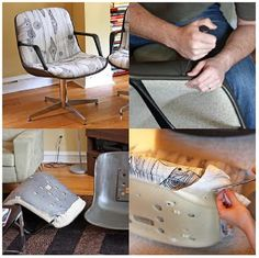 recover a vintage office chair