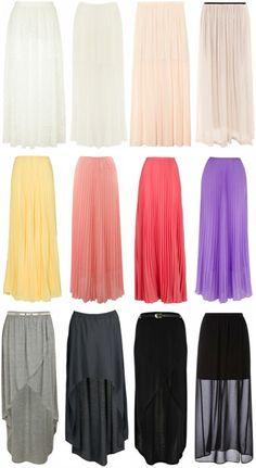 Maxi skirts :)