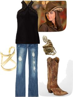 """Rodeo Outfit"" by sarah-lewis10 on Polyvore"