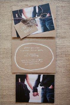 Love the white screenprint on craftpaper!