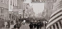By 1900, the streets of Nome were filled with throngs of people. In the photo above, you can see the Dexter saloon that Wyatt Earp owned along with Charlie Hoxie.    – Courtesy Carrie M. McLain Museum collection, Nome, Alaska –