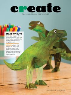 Cardboard cut out dinosaurs...