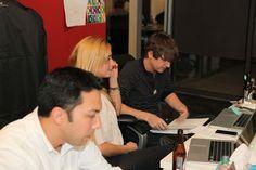 UX designer/graphic designer Nick, media manager Maura and digital marketing and brand strategist Peter get it done.