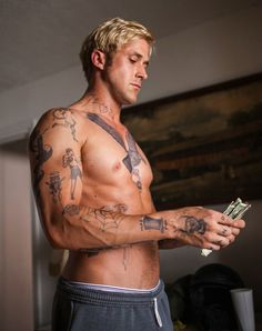 pines, this man, ryan gosling, god, blondes, tattoos, morning coffee, places, photo galleries