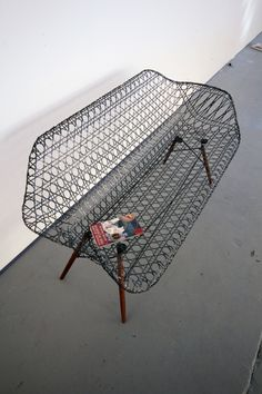 Architect and designerMatthew Strong created this homage to the Eameses with a sculptural carbon fiber Eames sofa.   #sofa #eames