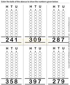 Abacus8 - math Worksheets - preschool Worksheets