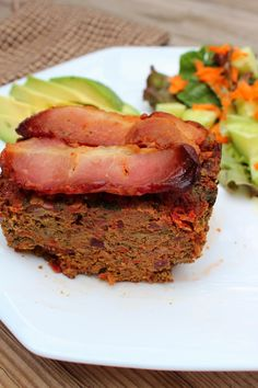 """Simple Paleo Meatloaf With """"No-mato Sauce"""" - Autoimmune Paleo Recipe - AIP Meatloaf - AIP Bacon - Paleo Meatloaf - The Primitive Homemaker"""