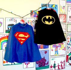 Home made superhero fleece poncho-capes - tutorial :: OOooh!!