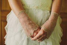 Pretty wedding gloves
