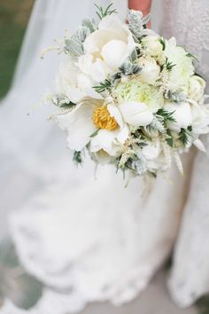 Wedding Bouquet | What's the large white flower?    Velvetine Photography