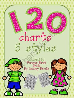 120 charts - Common Core Math (5 styles) from Forever First Grade by Lindsey Brooks on TeachersNotebook.com -  (5 pages)  - FREE! 120 charts to enhance your Common Core Math place value activities. The chart is included in 5 different number fonts. Enjoy!