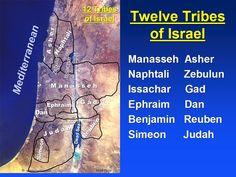 Ancient map of biblical (Old Testament) Israel