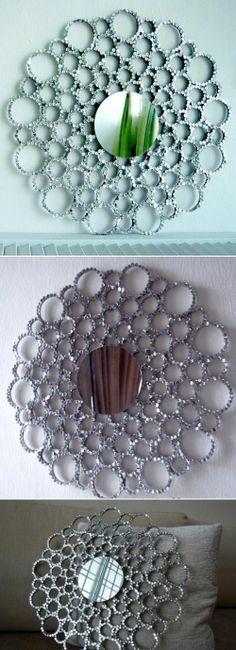 DIY Glittering Mirror